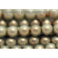 Teklagyöngy, aquazöld 6mm, 23-25 db /szál
