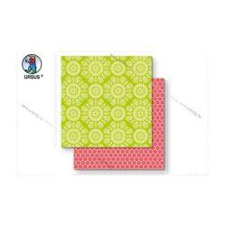 "Scrapbook papír ""Lotta 2""  zöld 123"