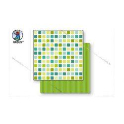 "Scrapbook papír ""Lotta 2""  zöld 124"