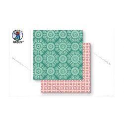 "Scrapbook papír ""Lotta 2""  zöld 133"