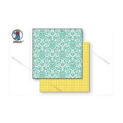 "Scrapbook papír ""Lotta 2""  zöld 136"
