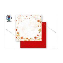 "Scrapbook papír ""Country flowers"" sárga 91"