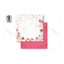 "Scrapbook papír ""Country flowers"" sárga 92"