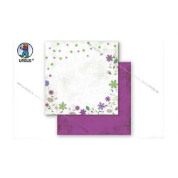 "Scrapbook papír ""Country flowers"" sárga 93"
