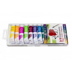Tempera készlet 12*12ml Neon és metál színek ICO