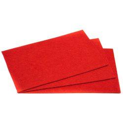 Filc 20x30cm, 1,5mm vastag, élénk piros