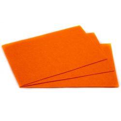 Filc 20x30cm, 1,5mm vastag, narancssárga