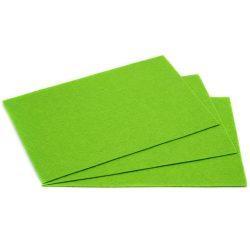 Filc 20x30cm, 1,5mm vastag, neon zöld