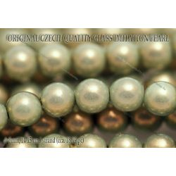 Teklagyöngy, aquazöld 8mm, 18-19 db / szál