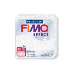 Fimo Effect Gyurma, csillámos, 57g, fehér 052