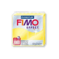 Fimo Effect Gyurma, áttetsző, 57g, sárga 104