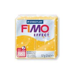 Fimo Effect Gyurma, csillámos, 57g, arany 112