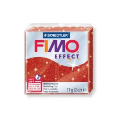 Fimo Effect Gyurma, csillámos, 57g, piros 202