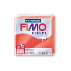 Fimo Effect Gyurma, áttetsző, 57g, piros 204