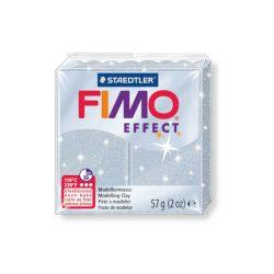 Fimo Effect Gyurma, csillámos, 57g, ezüst 812
