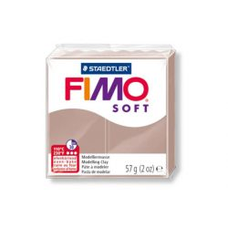 Fimo soft gyurma, 57g, barnás szürke 87