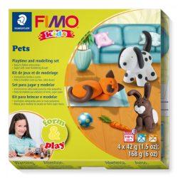 Gyurmakészlet, STA, Fimo Kids, 4x42g, állatok