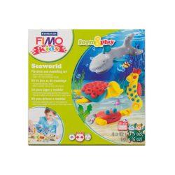 Gyurmakészlet, STA, Fimo Kids, 4x42g, tengeri