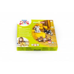 Gyurmakészlet, STA, Fimo Kids, 4x42g, macskák