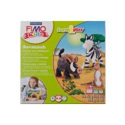 Gyurmakészlet, STA, Fimo Kids, 4x42g, szavanna