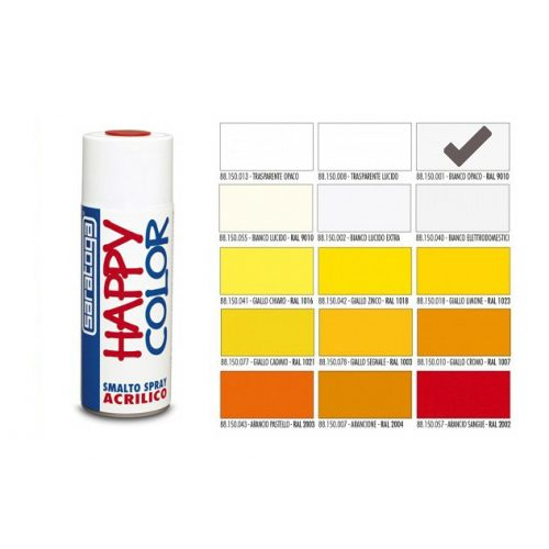 Happy Color Akril spray RAL9010 Matt Fehér, 400ml
