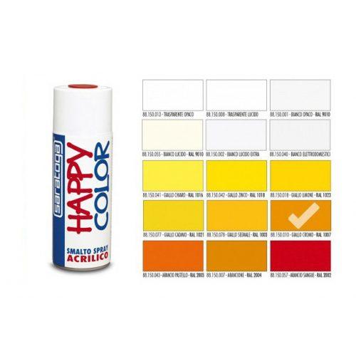 Happy Color Akril spray RAL1007 Króm Sárga, 400ml