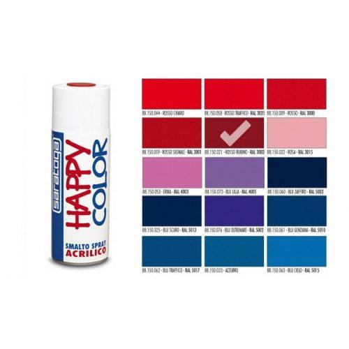 Happy Color Akril spray Rubin Vörös, 400ml