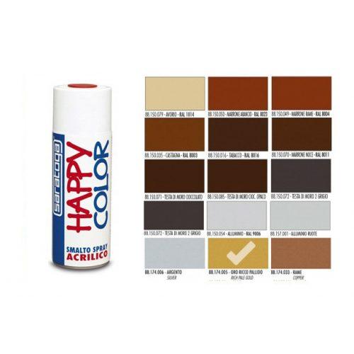 Happy Color Akril spray Metál Arany, 400ml
