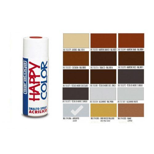 Happy Color Akril spray Metál Ezüst, 400ml