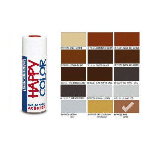 Happy Color Akril spray Metál Réz, 400ml