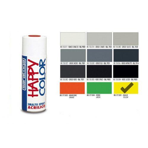 Happy Color Akril spray Fluor Sárga, 400ml
