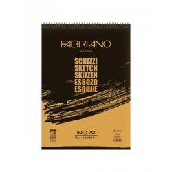 Fabriano rajztömb Schizzi A2, 90g-60lap, felül spirálos