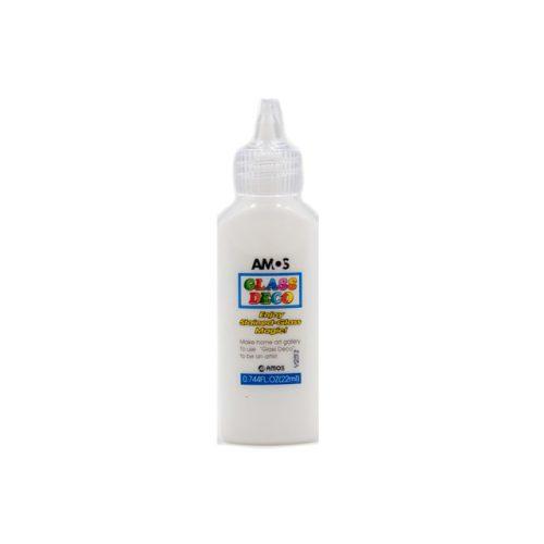AMOS üvegmatrica festék 22ml, fehér