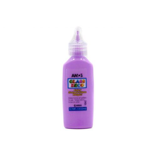 AMOS üvegmatrica festék 22ml, lila