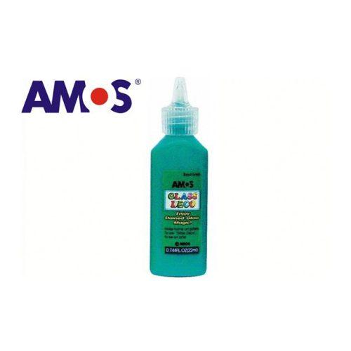 AMOS üvegmatrica festék 22ml, sötétzöld