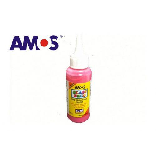AMOS üvegmatrica festék 60ml, piros