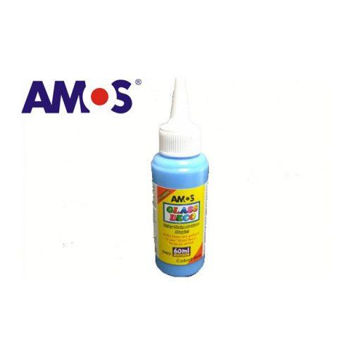 AMOS üvegmatrica festék 60ml, kobaltkék