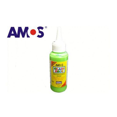 AMOS üvegmatrica festék 60ml, világoszöld
