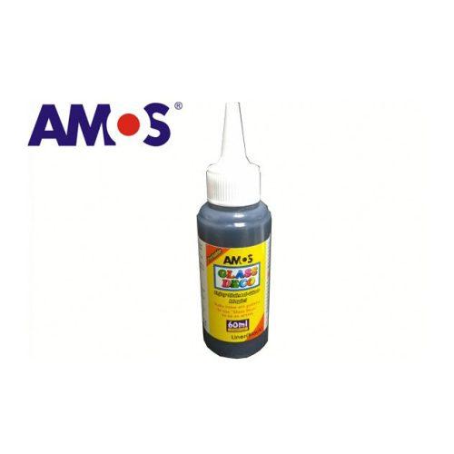 AMOS üvegmatrica festék 60ml, fekete kontúr