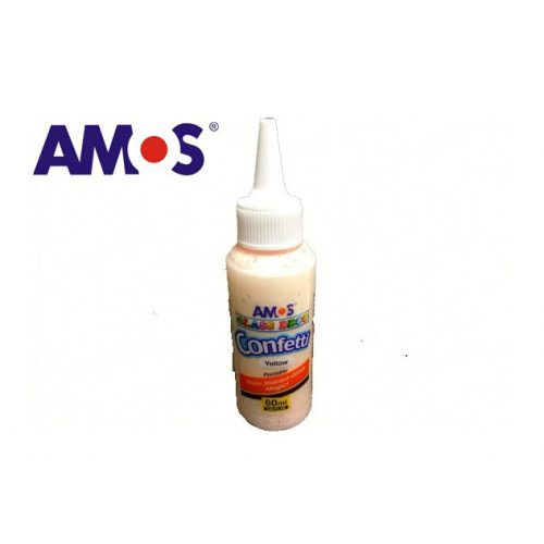 AMOS üvegmatrica festék 60ml, konfetti sárga