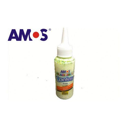 AMOS üvegmatrica festék 60ml, konfetti zöld