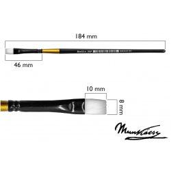Munkácsy ecset, lapos, szintetikus fehér M500P-04