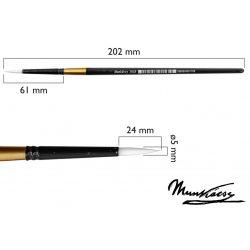 Munkácsy ecset, kerek, szintetikus fehér M501R-10