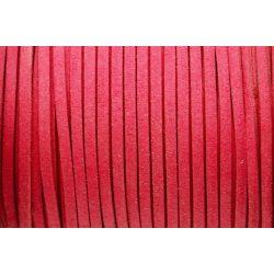 Hasított bőr (utánzat), 1,5 mm, sötét rózsaszín
