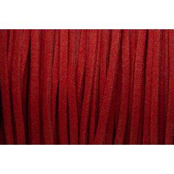 Hasított bőr (utánzat), 1,5 mm, piros