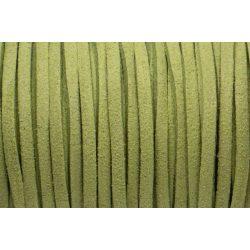 Hasított bőr (utánzat), 1,5 mm, közép zöld