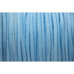Hasított bőr (utánzat), 1,5 mm, világos kék