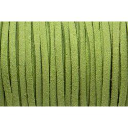 Hasított bőr (utánzat), 1,5 mm, alma zöld