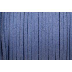 Hasított bőr (utánzat), 1,5 mm, közép kék