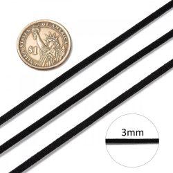 Hasított bőr (utánzat), 1,5 mm, fekete